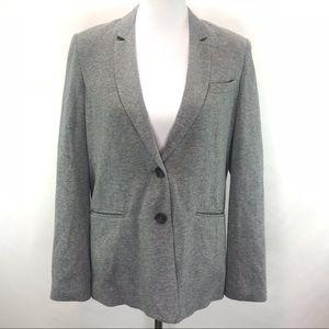 BCBG Max Azria Heather Grey Cotton Blazer XS